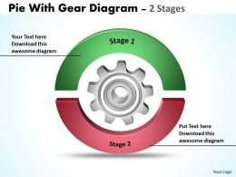 Pie With Gear Diagram 2 Stages 2