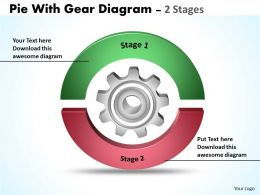 Pie With Gear Diagram 2 Stages