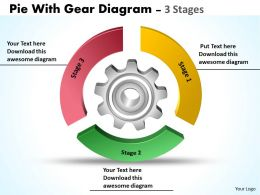 Pie With Gear Diagram 3 Stages 5