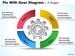 Pie With Gear Diagram 4 Stages 8