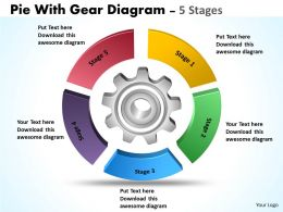 Pie With Gear Diagram 5 Stages 8
