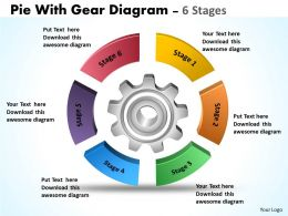 Pie With Gear Diagram 6 Stages 7