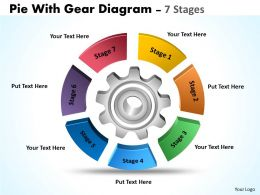 Pie With Gear Diagram 7 Stages 9
