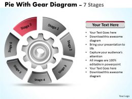 96619127 Style Division Pie 7 Piece Powerpoint Template Diagram Graphic Slide
