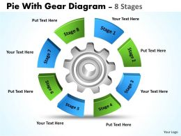 Pie With Gear Diagram 8 Stages