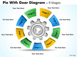 Pie With Gear Diagram 9 Stages 6