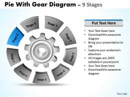 56064595 Style Variety 1 Gears 9 Piece Powerpoint Presentation Diagram Infographic Slide