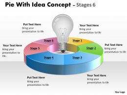 Pie With Idea circular Concept Stages 6