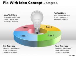 Pie With Idea Concept diagram Stages 19