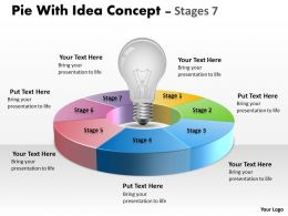 Pie With Idea Concept diagram Stages 5