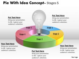 Pie With Idea Concept Stages 10