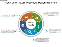 Piece Circle Puzzle Procedure Powerpoint Show