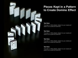 Pieces Kept In A Pattern To Create Domino Effect
