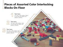 Pieces Of Assorted Color Interlocking Blocks On Floor