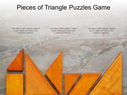 Pieces Of Triangle Puzzles Game