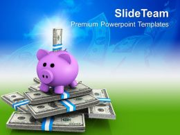 piggy bank and notes investment powerpoint templates ppt themes and graphics 0213