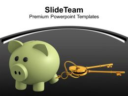 Piggy Bank And Security Keys Powerpoint Templates Ppt Themes And Graphics 0313