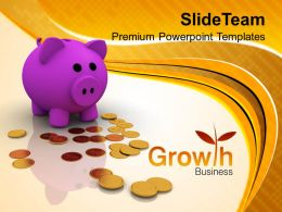 Piggy Bank Business Growth Success PowerPoint Templates PPT Themes And Graphics 0213