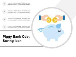 Piggy Bank Cost Saving Icon