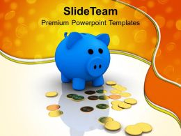 Piggy Bank Dollar Money Savings Powerpoint Templates Ppt Themes And Graphics 0213