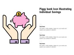 Piggy Bank Icon Illustrating Individual Savings