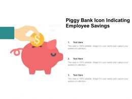 Piggy Bank Icon Indicating Employee Savings