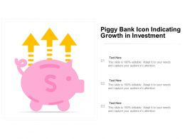 Piggy Bank Icon Indicating Growth In Investment