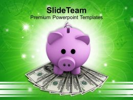Piggy Bank Investment Of Money Powerpoint Templates Ppt Themes And Graphics