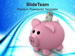 Piggy Bank Savings Concept Powerpoint Templates PPT Themes And Graphics 0113