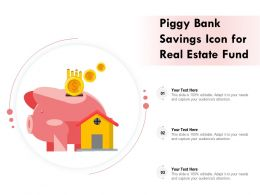 Piggy Bank Savings Icon For Real Estate Fund