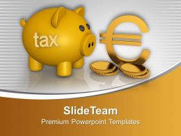 Piggy Bank With Dollar Coins Finance Powerpoint Templates Ppt Backgrounds For Slides 0113