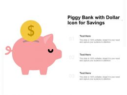 Piggy Bank With Dollar Icon For Savings