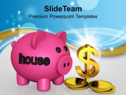Piggy Bank With Dollar Symbol Saving Powerpoint Templates Ppt Themes And Graphics 0113