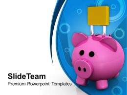 Piggy Bank With Padlock Security Future Powerpoint Templates Ppt Themes And Graphics 0113