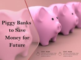 Piggy Banks To Save Money For Future