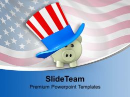 piggy_wearing_patriot_hat_usa_crisis_powerpoint_templates_ppt_backgrounds_for_slides_0113_Slide01
