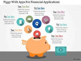 Piggy With Apps For Financial Applications Flat Powerpoint Design