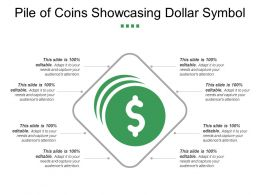 Pile Of Coins Showcasing Dollar Symbol