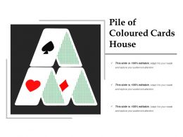 Pile Of Coloured Cards House