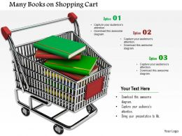 Pile Of Education Books In Shopping Cart