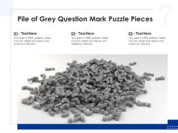 Pile Of Grey Question Mark Puzzle Pieces
