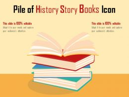 Pile Of History Story Books Icon