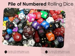 Pile Of Numbered Rolling Dice
