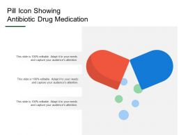 Pill Icon Showing Antibiotic Drug Medication