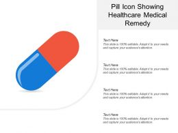 Pill Icon Showing Healthcare Medical Remedy