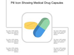 Pill Icon Showing Medical Drug Capsules