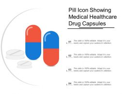 Pill Icon Showing Medical Healthcare Drug Capsules