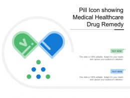 Pill Icon Showing Medical Healthcare Drug Remedy