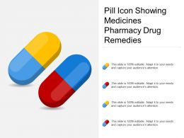 Pill Icon Showing Medicines Pharmacy Drug Remedies
