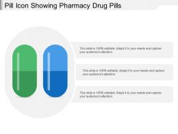 Pill Icon Showing Pharmacy Drug Pills
